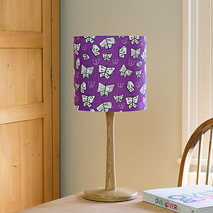 A Handmade Butterfly Print Lampshade - lighting