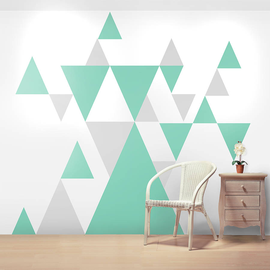 Geometric pattern giant wall sticker set by oakdene designs - Simple design of wall ...