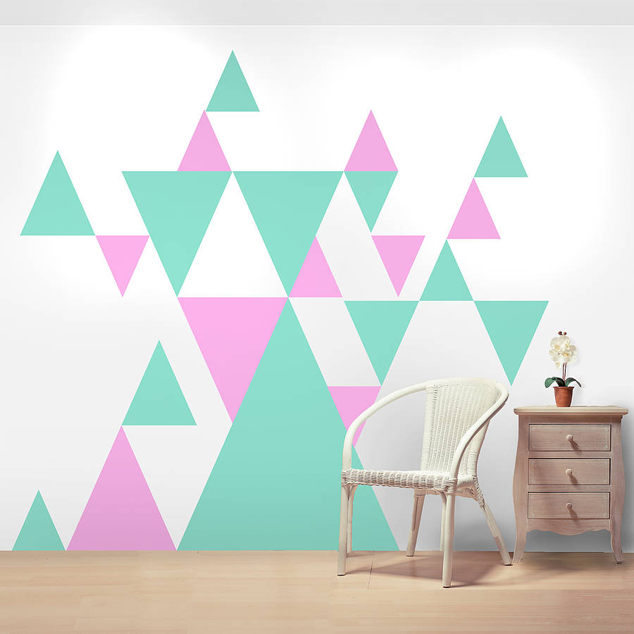 Geometric Pattern Giant Wall Sticker Set By Oakdene