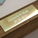 Thumb bombus engraved plaque addition
