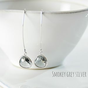 Faceted Glass Raindrop Earrings - view all gifts for her