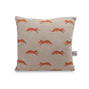 Fox Linen Cushion - cushions
