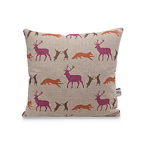Animal Linen Cushion