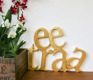 Vintage Shop Letters 'Lowercase' - decorative letters