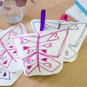 Lavender Filled Butterfly Decoration - hanging decorations