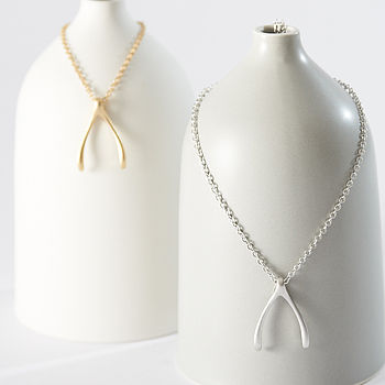 Large Wishbone Necklaces
