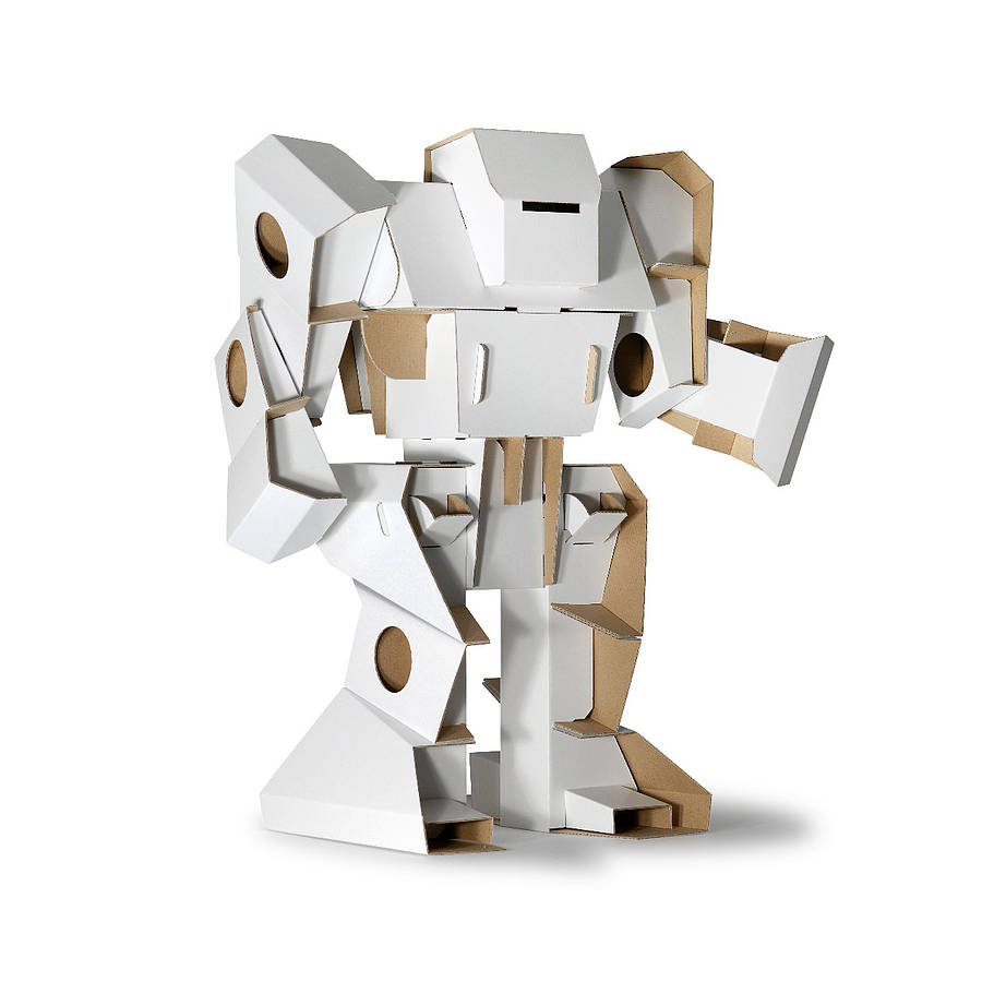 Colour In Cardboard Robot Kit