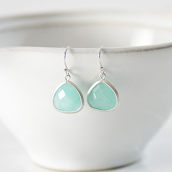 Little Silver Aventurine Earrings