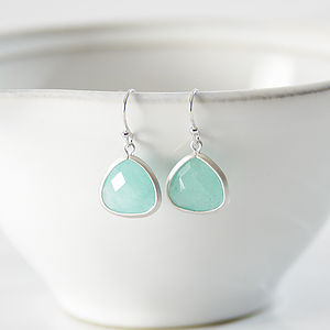 Little Silver Aventurine Earrings - wedding jewellery