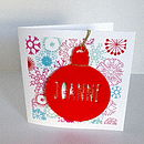 Personalised Laser Cut Bauble with Colourful Card
