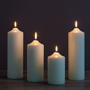 Chapel Pillar Candles - room decorations