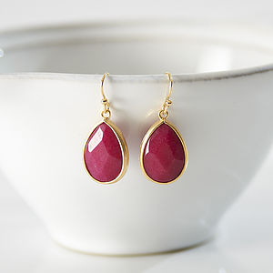 Ruby Sorbet Teardrop Earrings - earrings