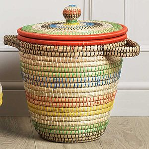 Colourful Fair Trade Storage Basket