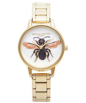 Queen Bumble Bee Woodland Watch Bracelet