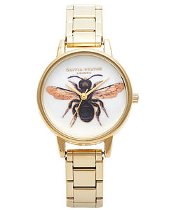 Queen Bumble Bee Woodland Watch Bracelet - watches