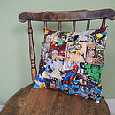 Handmade Superhero Patchwork Cushion Cover