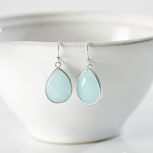 Celeste Blue Teardrop Earrings - earrings
