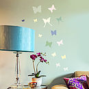 'Colourful Butterfly' Wall Sticker Set
