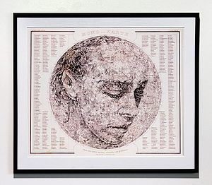 Blue Moon Map Portrait Print