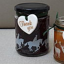 Horseback Rider Silhouette Glass Jar