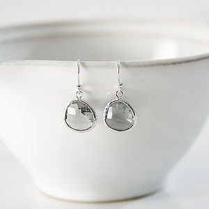 Little Silver Raindrop Earrings - jewellery for her