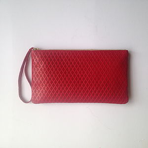 Monmouth Red Leather Clutch
