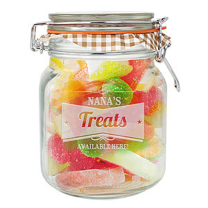Peronalised Retro Label Kilner Glass Jar - kitchen