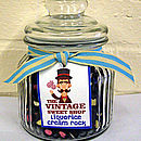 Medium Glass Jar With Liquorice Cream Rock
