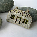 Wool Felt House Brooch