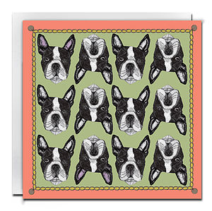 Boston Terrier Card Print