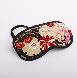 Japanese Kimono Eye Mask Sakura - eye masks & neck pillows