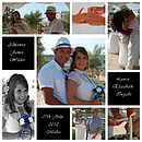 Wedding Photo Montage Celebration On Canvas
