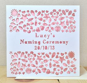 Personalised Naming/Christening Day Card - christening cards