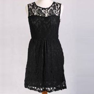 Sleeveless Lace Dress - dresses