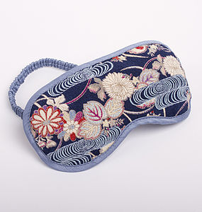 Japanese Kimono Eye Mask Mizu - bedding & accessories