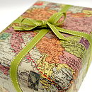 Vintage map wrap