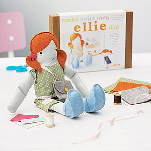 Personalised Make Your Own Doll Sewing Kit - holiday play time