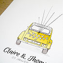 Old French Car Two Cv Wedding Guest Book
