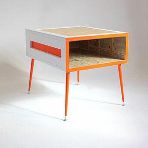 Beverly Hills Art Crate Side Table - furniture