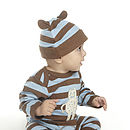 Boys Striped Hat With Ears