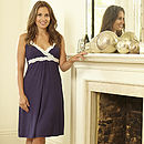 Navy Maternity and Breastfeeding Nightdress