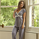 Grey Maternity and Breastfeeding Pyjamas