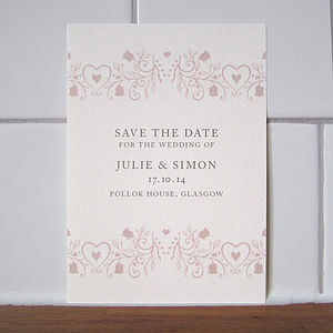 Delicate Rose Save The Date Card