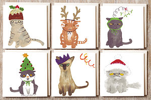 Cat In A Hat Christmas Cards - cards