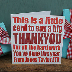 Personalised Corporate Thank You Cards - christmas card packs