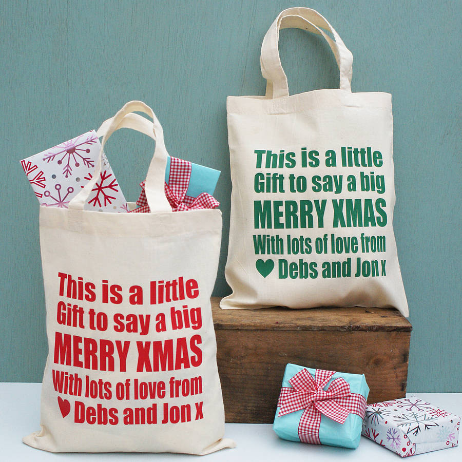 Personalised Merry Christmas Gift Bags