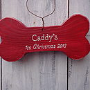 Personalised 1st Christmas Dog Bone