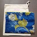 Vintage Scarf Blue Clutch Bag