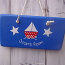 Sailing Boat Door Sign