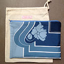 Vintage Scarf Graphic Clutch Bag